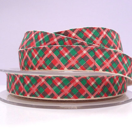 2017 Cotton Christmas Ribbon :: Plaid
