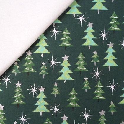 Fabric Felt :: Celebration :: Green Trees on White