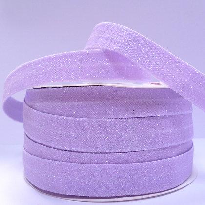 Glitter Fold Over Elastic :: Mauve