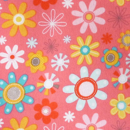 Fabric :: Girl Crazy :: Flannel Pink Flower