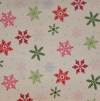 Fabric :: Merry/Bright :: Cream Snowflake