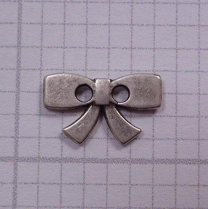Metal Bow Button :: Silver