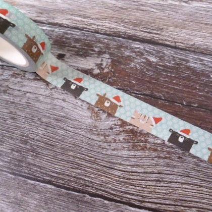 Washi Tape Roll :: Santa Hats