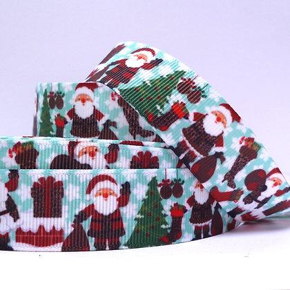 Christmas Grosgrain Ribbon :: Santa