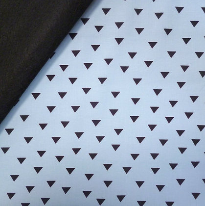 Fabric Felt :: Little Super Hero :: Blue Triangles on Black