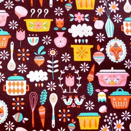 Fabric :: Vintage Kitchen :: Brown Main