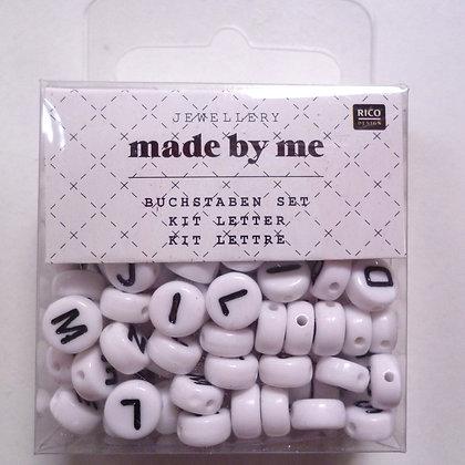Alphabet Beads :: White Round