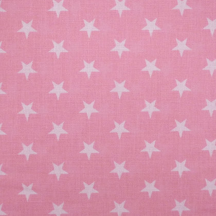 Fabric :: Wide :: White Stars on Pale Pink