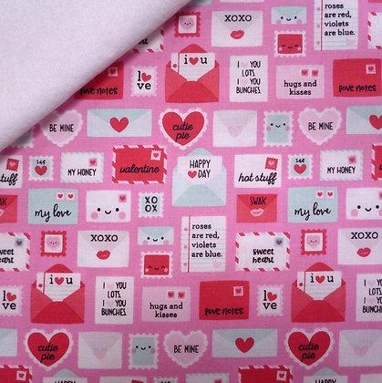 Fabric Felt :: Punny Valentine :: Love Letters on White