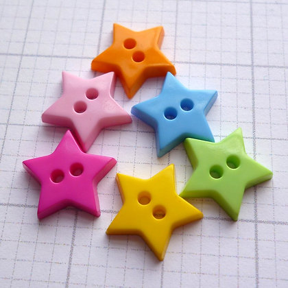 Tiny Star Button :: 10mm