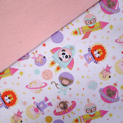 Fabric Felt :: Pink Space on Blush LAST FEW