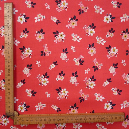 Fabric :: Vintage Daydreams :: Small Floral Red