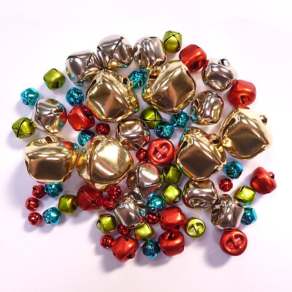 Bumper pack of Christmas Bells :: Red, Blue, Green, SIlver & Gold