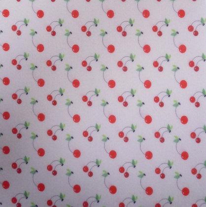Soft Printed Felt :: Natural Cherry