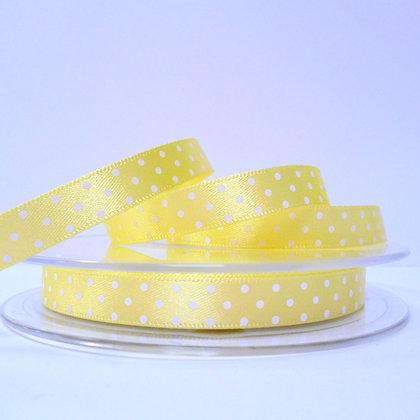 Micro Dot Satin Ribbon :: Lemon