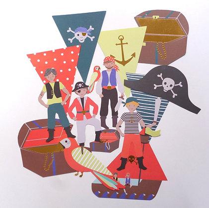 Shaped Garland :: Pirates