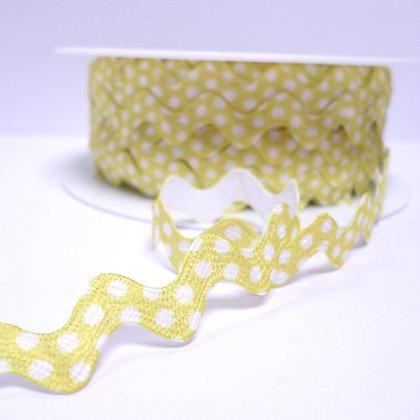 Polka Dot Ric Rac :: Lemon