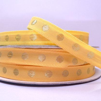 Gold Dot Ribbon :: Lemon