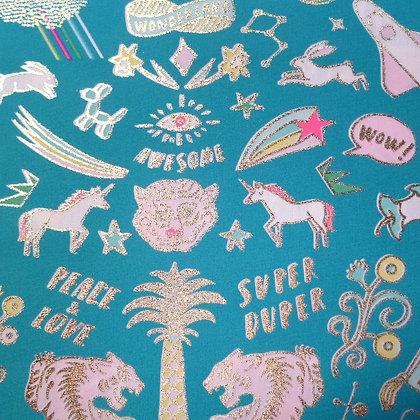Fabric :: Wide Pastel Metallics :: Tattoo