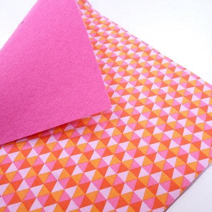 Fabric Felt :: Polygon Watermelon & Candy Pink