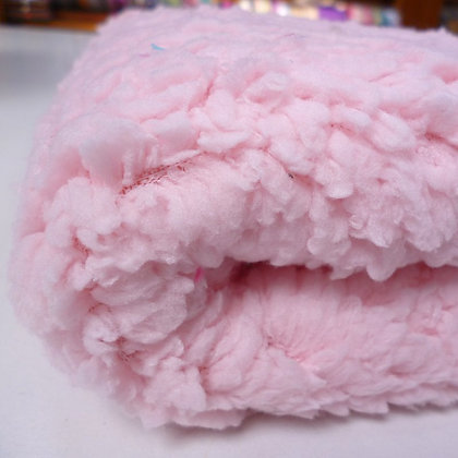 Lamb Fur Fabric :: Baby Pink
