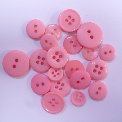 Dyed Pick & Mix Buttons :: Pink