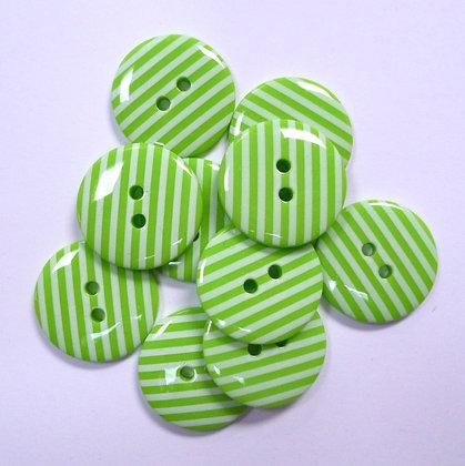 Large Stripe Button :: Green