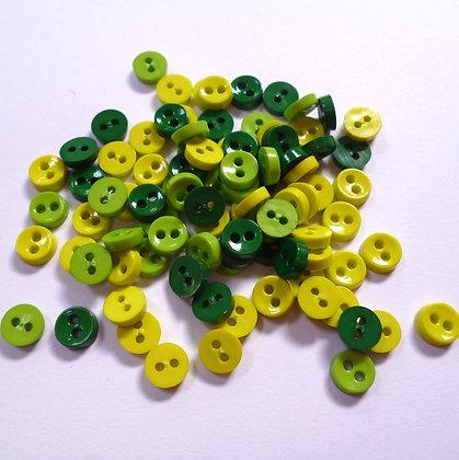 Pack of extra tiny 2 holes :: Greens
