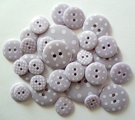Polka Dot Buttons :: Lilac