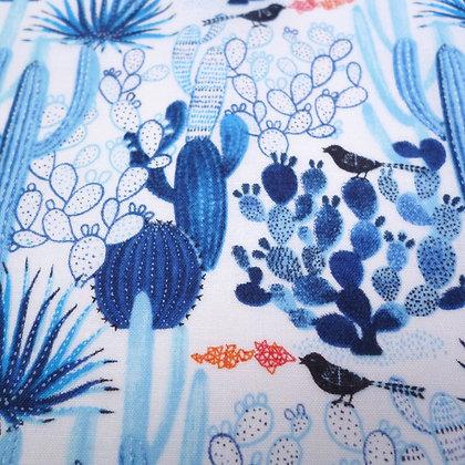 Fabric :: Blue Cactus