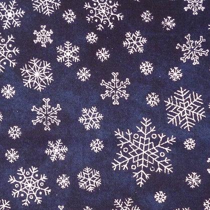 Fabric :: Sparkle Snowflakes :: Midnight