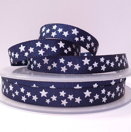 Double Sided Star Ribbon :: Navy