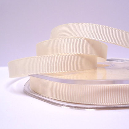 10mm grosgrain :: by the metre :: Ivory