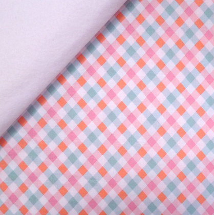 Fabric Felt :: Perfect Party Pink Gingham on White