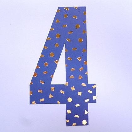 Make A Garland :: Number :: 4