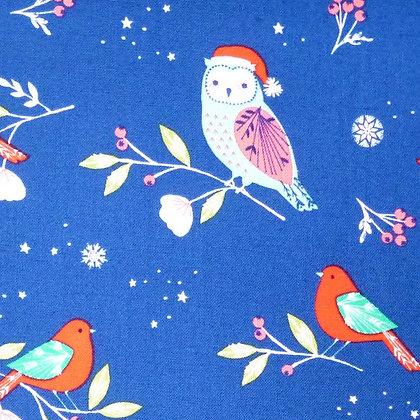 SALE Fabric :: Winter Wonderland :: Owls on Navy