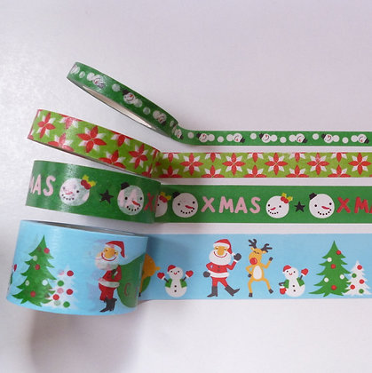 Christmas Washi Mix Pack :: Snowman, Santa & Deer