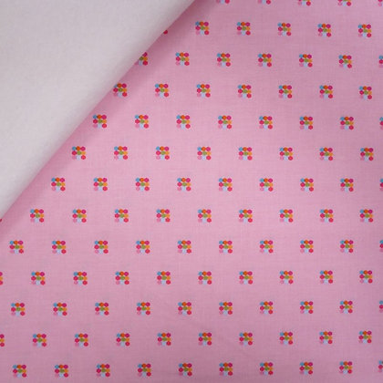 Fabric Felt :: Simply Happy :: Hexagon Squares on White
