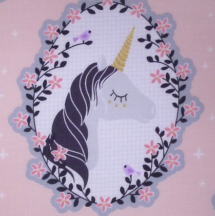 Fabric :: Do You Believe :: Unicorn Portrait