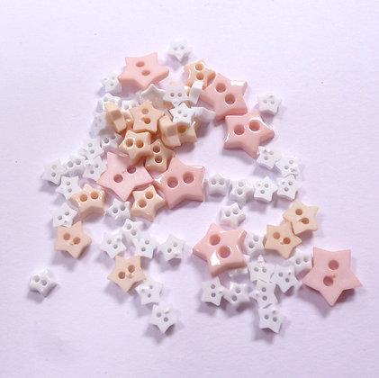 Pack of Tiny Stars :: Beige/White