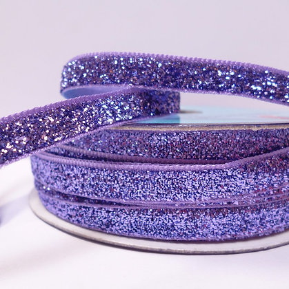 10mm LUXURY Glitter Velvet Ribbon :: Purple