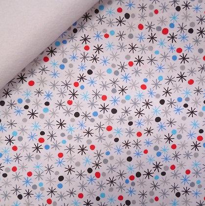 Fabric Felt :: Polar Pals II :: Snowflakes on White