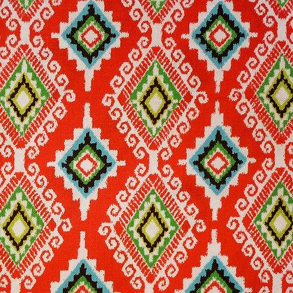 Fabric :: Llama Christmas :: Navidad (red diamonds)