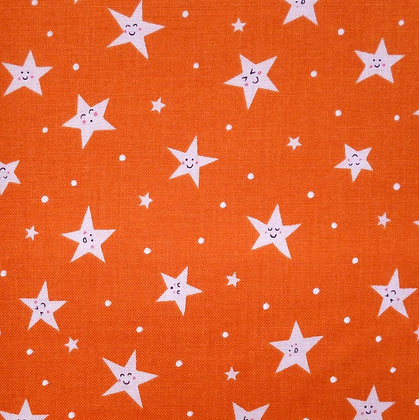 Fabric :: Goodnight Stars :: Bright Orange