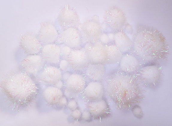 Box of Pom Poms :: Iridescent Glitter