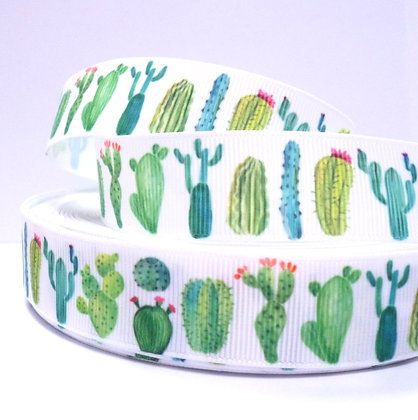 Cute Grosgrain Ribbon :: Watercolour Cactus