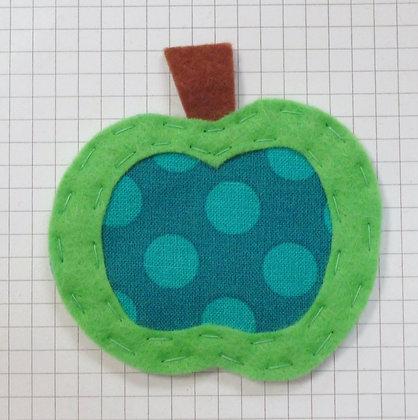 Ta Dot Teal :: Apple :: Handmade Embellishment