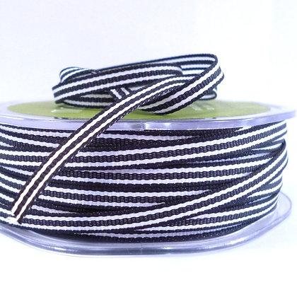Tiny Stripe Ribbon :: Black
