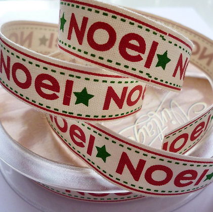 Cotton Christmas Ribbon :: Noel
