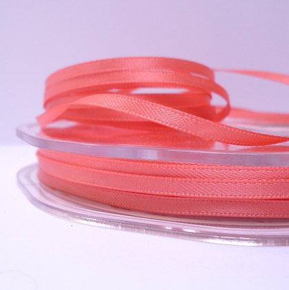 Coral :: 3mm Mini Satin Ribbon :: 5m
